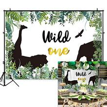 King of The Jungle Backdrop Safari 1st Birthday Background Vinyl Wild One Party Banner Backdrops