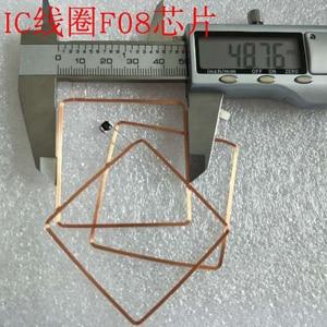 Image 3 - 13.56MHz HF COB et antenne IC bobine de soudage domestique Fudan F08 puce RFID étiquettes 49*49*0.3mm 14443A