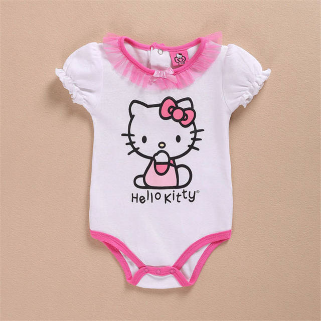 89f0c6a38 Detail Feedback Questions about Newborn Baby Girl Clothes Set Infant Pink  Princess Hello Kitty Long Sleeve Jumpsuit + Tutu Dress Cotton New Born Baby  ...