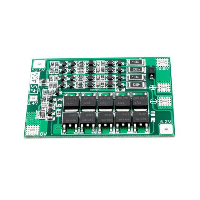 4 S 40A Li-ion batterie au Lithium 18650 chargeur PCB BMS panneau de Protection avec équilibre pour le moteur de forage 14.8 V 16.8 V Module de cellule Lipo