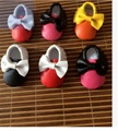 2016 new Retail spring hot mixed color PU leather baby girls shoes First Walkers Toddler baby bow moccasins for new born babies