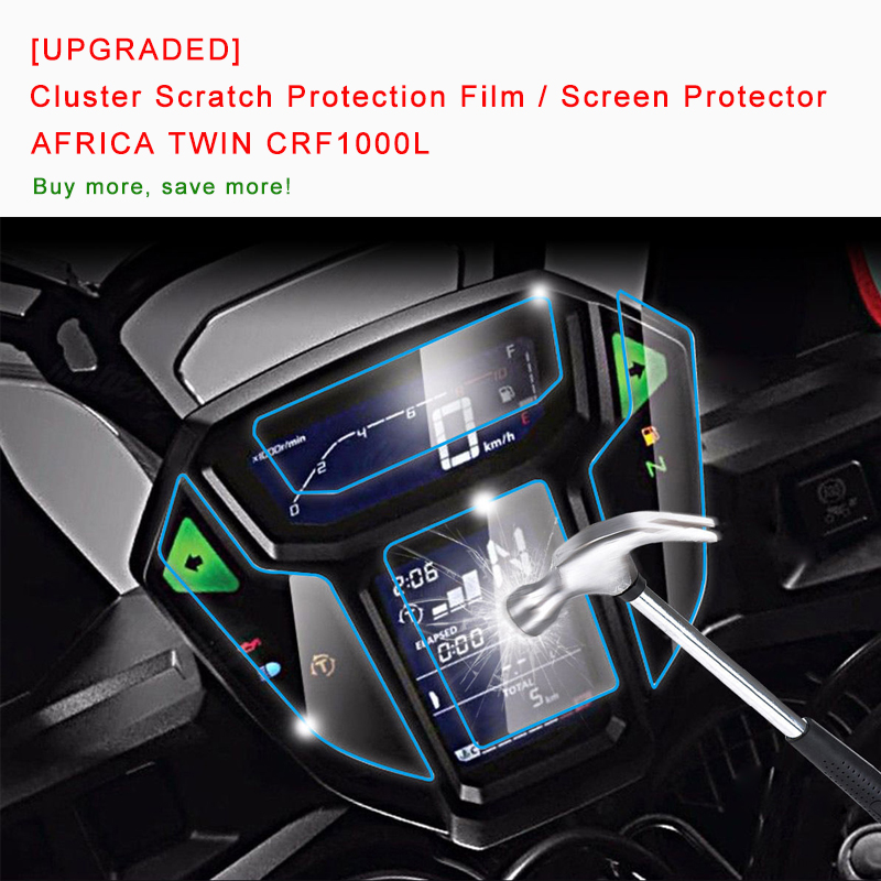 [UPGRADED] For HONDA AFRICA TWIN CRF1000L Cluster Scratch Protection Film Screen Protector Blue Light Explosion-proof Brand New