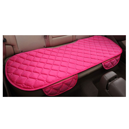 1 sets of 3pcs Vehicle Front Rear Seat Cover Silk Velvet Protective Mat Decor Universal pink
