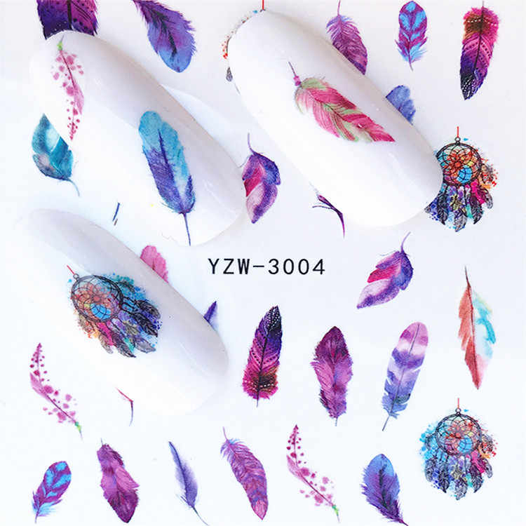 1 pcs Nail Sticker Water Decals Women White Flower Cat Butterfly Transfer Nail Art Decoration 2018 m2NS7