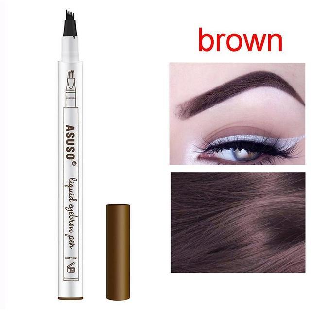 3 Colors Microblading Eyebrow Tattoo Pen Waterproof Tattoo Durable Eye Brow Pencil Smudge-proof Fine Sketch Liquid Eyebrow Pen 3