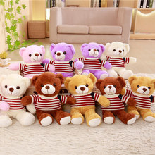 Wholesale 5 Pieces A Lot 30/35 Cm Soft Plush Sweater Bears Toy Stuffed Animal Teddy Bear Bed For Childrens Gift