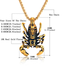 Scorpion Necklace Jewelry