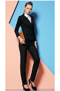 Limited Full Cotton Button Fly Single Breasted Formal Office Uniform Style Suits New Women Work Wear Suit Womens Business Suits