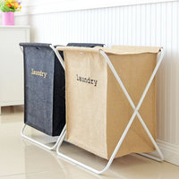 JULY'S SONG Laundry Basket Removable Iron Frame Large Dirty Clothes Basket Bathroom Organizer Toy Storage Shopping Bags Handbag