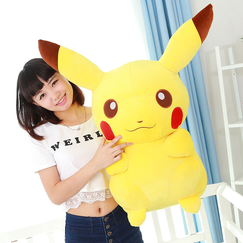 large 65cm cartoon pikachu plush toy soft throw pillow birthday gift b0803 cartoon cat doll about 60cm bowtie cat plush toy soft throw pillow birthday gift x107
