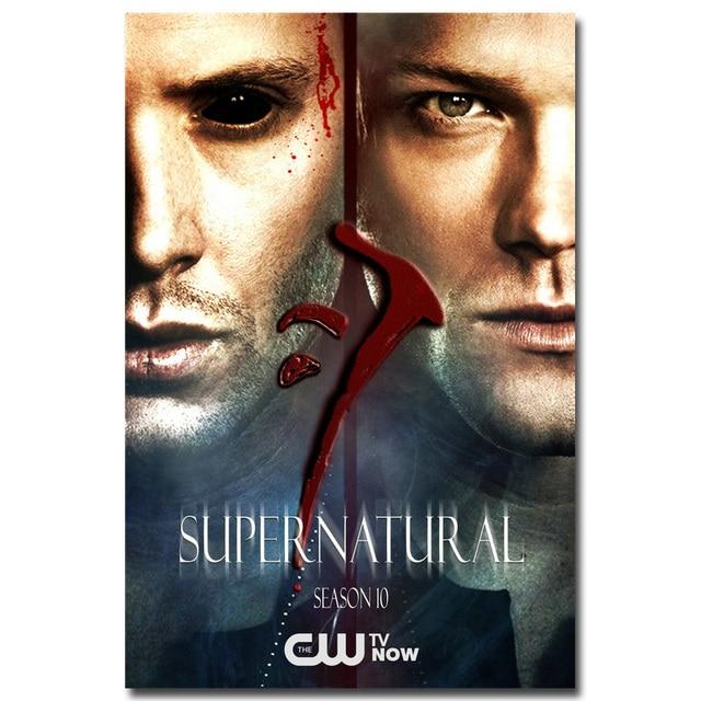 Supernatural Season 15 TV Series Poster Silk Canvas Poster Print 12x18 16x24/'/'