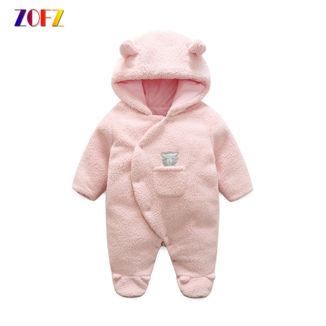e986b63a90bf ZOFZ Newborn baby rompers for girls 2018 long sleeve jumpsuit cute ...