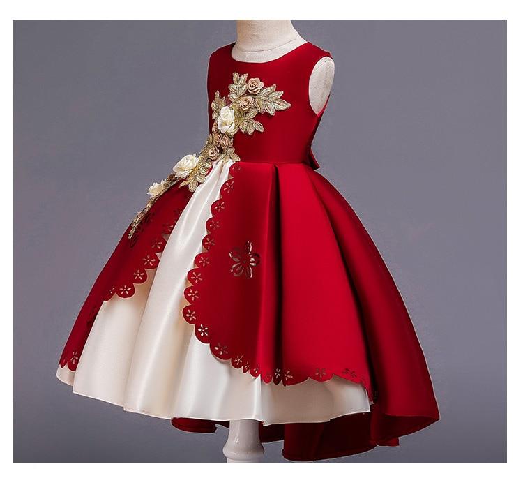 HTB1oCAcX4D1gK0jSZFsq6zldVXau Kids Dresses For Girls Elegant Princess Dress Christmas Children Evening Party Dress Flower Girl Wedding Gown vestido infantil
