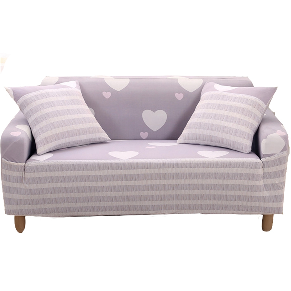Sweet Heart Pattern Universal Stretch Sofa Covers For
