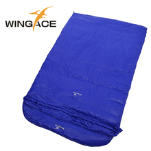 Fill 2500g Envelope Travel sleep adult double sleeping bags duck down outdoor camping sleeping bag winter tourism equipment