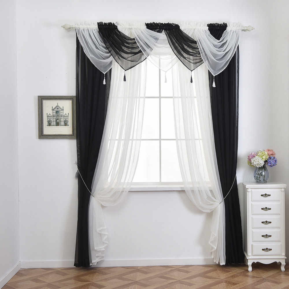 Pelmet Valance Voile Curtain Swags All Colours Net Curtains Voile Swag  Living Room Window Kitchen Bedroom Valance Curtains
