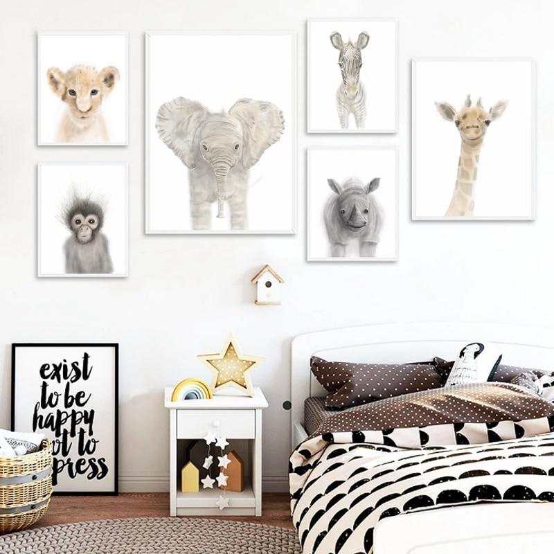 Animal Canvas Printing Kids Room Decor