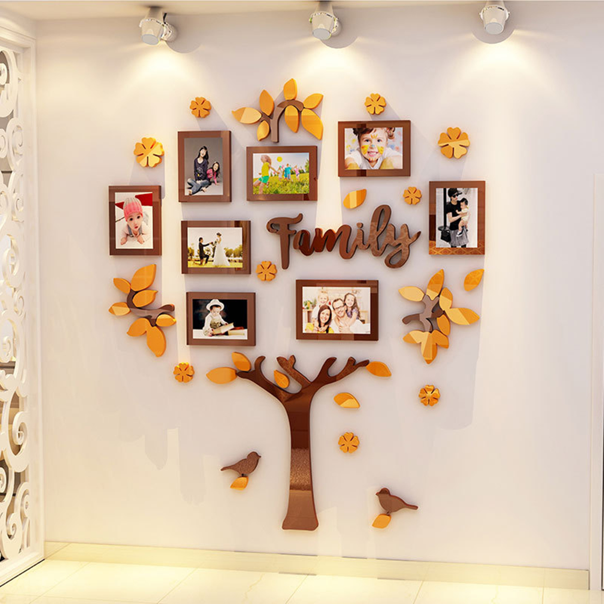 3d Arcylic Diy Family Photo Frame Tree Wall Sticker Home Decor Room