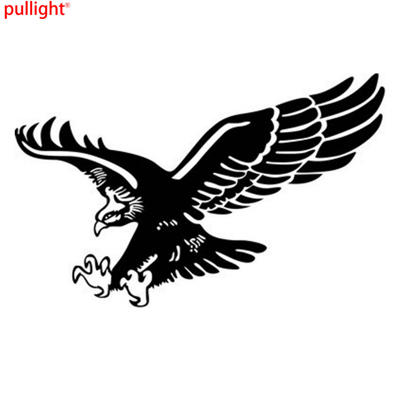 1 Pcs Fashion Reflective Eagle Decal Vinyl Car Stickers Auto Door Hood Cover Sticker Car Styling spider web hood rear window auto car vinyl decal stickers