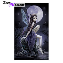 Painting Rhinestones Dark Fairy Gothic Art Skull diamond painting full square fairy kits painting calligraphy embroidery ASF780