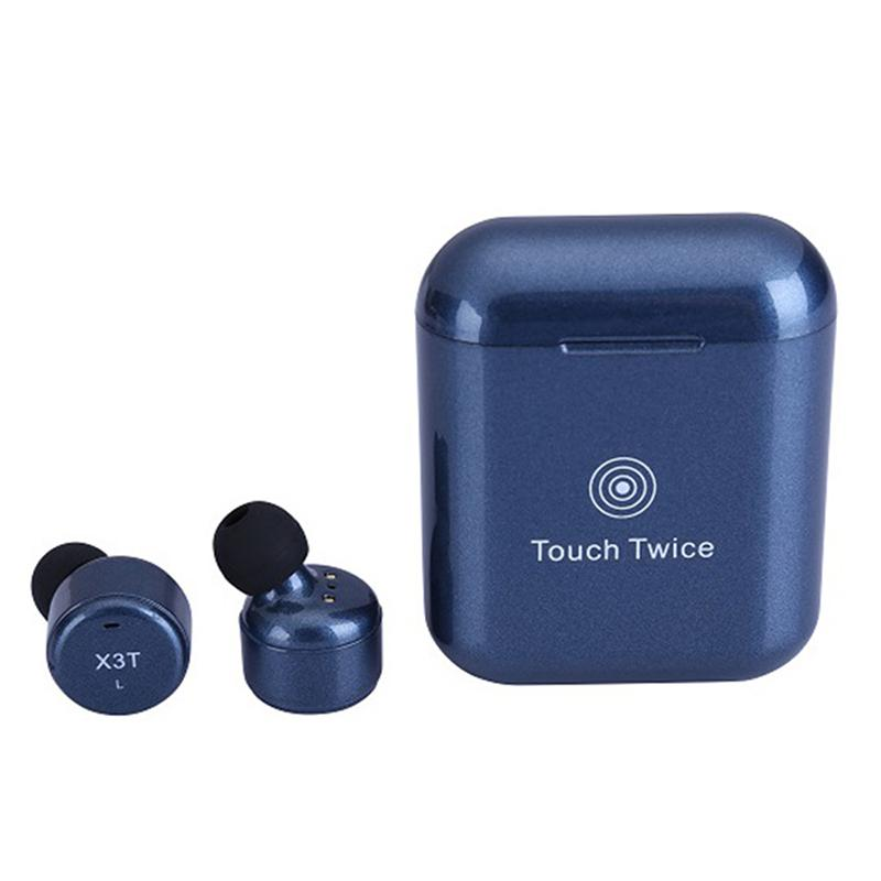 Kobwa True Wireless Earbuds TWS X3T Mini Headphone Bluetooth X2T In ear Earphone With 600mAH Charger Box for Android IOS Phone mini bluetooth earphone with car charger 2 in 1 driver kobwa bluetooth 4 0 headset earphone for iphone 7 6s android smartphone
