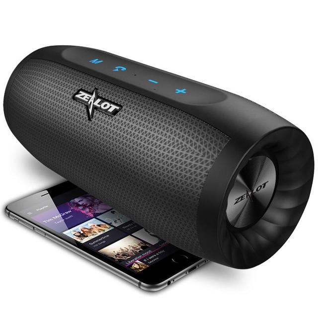 Tout nouveau zélot S16 Portable sans fil haut-parleur Bluetooth barre de son colonne Super basse 3D stéréo son TF carte AUX avec micro