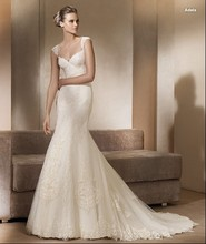 free shipping 2013 custom silver Elegant Sheer Bodice inbal dror lace wedding dresses ivory dress Mermaid Bridal gowns