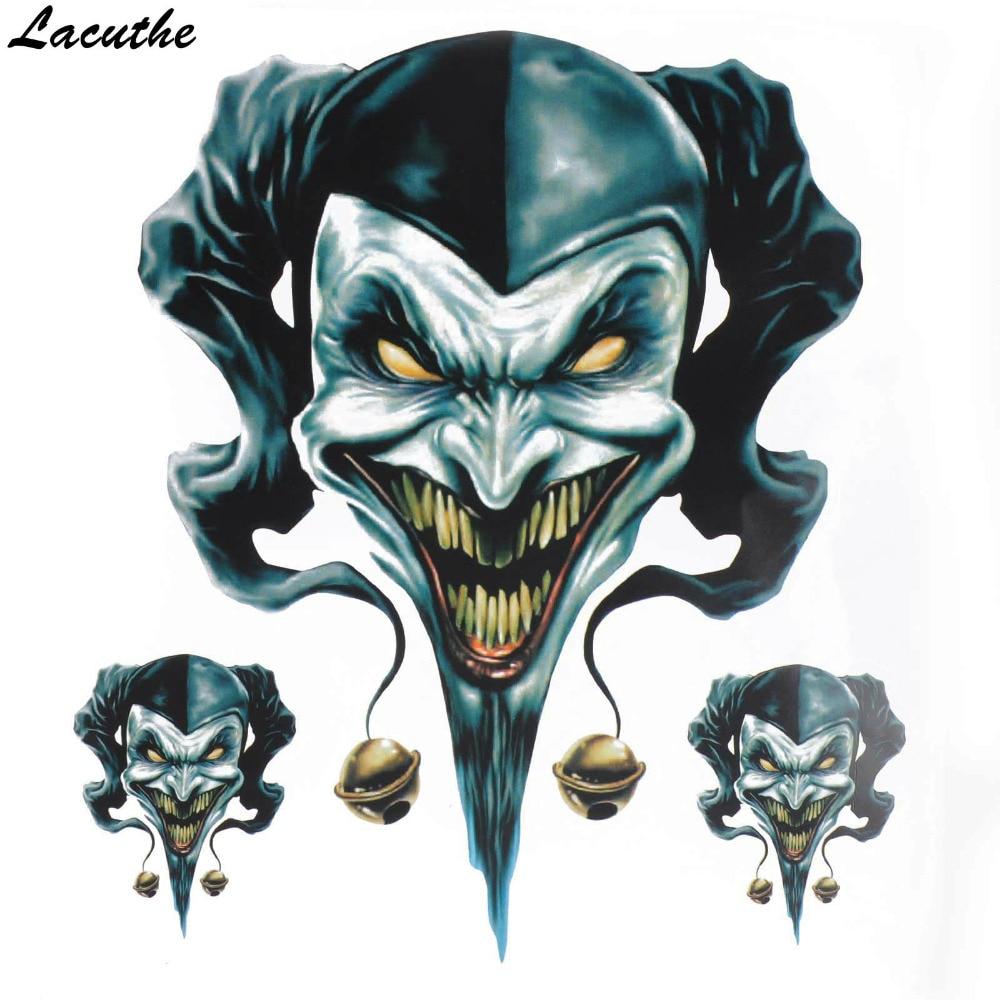 Vinyl Wolf Head Decals Skull Head Fire Flame Funny Eagle Clown Sticker For Motorcycle Car Door Stickers Truck Helmet Decor Zg2