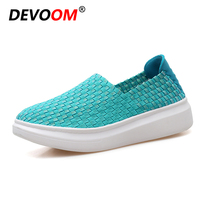 Handmade Golden Woven Shoes Woman Mon Healthy Loafers Fashion Breathable Women's Casual Shoes Spring Lady Slip on Zapatos Mujer