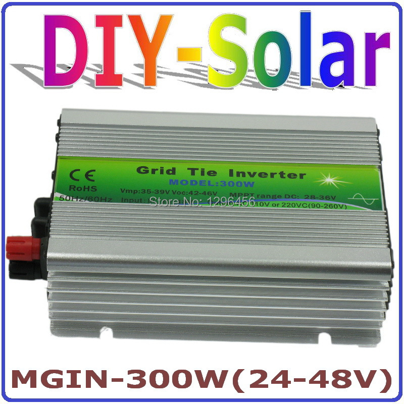 цена на 300W solar system, 36V panel / 72cells, 24-48VDC Pure Sine Wave Micro Inverter, 90-260VAC Full Voltage Output MPPT Function
