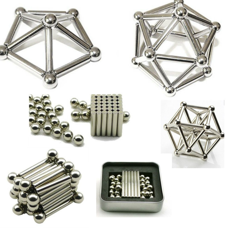 Box Package Building Models 36PCS Magnetic Sticks 27PCS Steel Balls Toy Innovative Buckyballs Metal Magnetic Constructor Toys