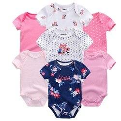 Top Quality 7 pçs/lote Bebê Meninos Meninas Roupas 2019 Moda Roupas Roupas de bebe Recém-nascidos rompers Geral bebê menina macacão