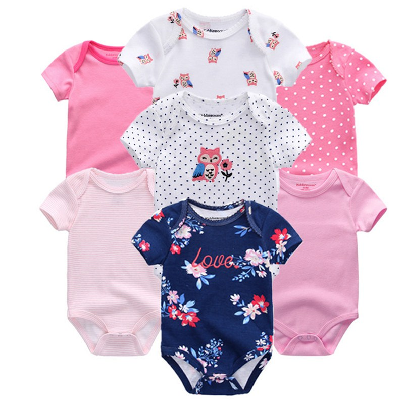 Top Quality 7PCS LOT Baby Boys Girls Clothes 2019 Fashion Roupas de bebe Clothing Newborn rompers Top Quality 7PCS/LOT Baby Boys Girls Clothes 2019 Fashion Roupas de bebe Clothing Newborn rompers Overall baby girl jumpsuit
