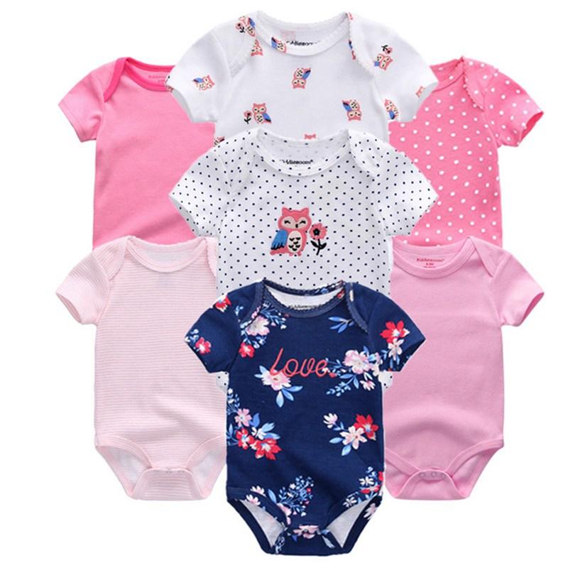 Top Quality 7PCS LOT Baby Boys Girls Clothes 2019 Fashion Roupas de bebe Clothing Newborn rompers Innrech Market.com