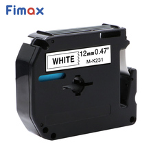 Fimax 7 Color M-K231 for Brother P-touch M Type Label Tape MK231 MK631 M-K431 M-K131 Brother Label Printer P touch Maker PT-65 цена