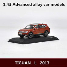1:43 Advanced alloy car models,high simulation TIGUAN  L 2017 models,metal diecasts,children's toy vehicles,free shipping