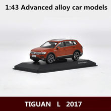 1:43 Advanced alloy car models,high simulation TIGUAN L 2017 models,metal diecasts,children's toy vehicles,free shipping(China)