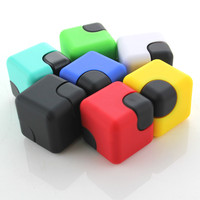 7Colors Lot Mini New Magic Cube Fidget Spinner Toy For Anxiety ADHD Stress Relieves Hand Finger