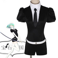 Japanese Anime Land of the Lustrous Cosplay Costume Houseki no Kuni Jade Yellow Diamond Playsuit Outfits Uniforms Suits