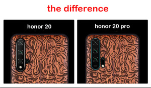 Image 2 - Onur 20 Case Boogic Orijinal Gerçek Ahşap funda Huawei Onur 20 Pro Gülağacı TPU Darbeye arka kapak Telefonu Kabuk Honor20 kılıfı