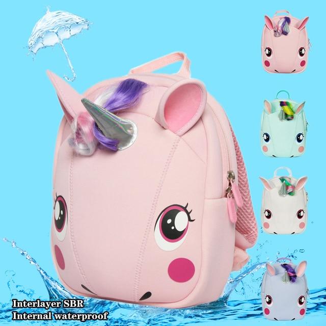 ebeb902c3a Super Cute Supercute Animal UNICORN Children s School Bag Plush Backpack  Schoolbag Waterproof For Kindergarten Boy Girls Gift