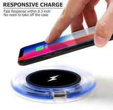 QI standard Mobile phone Wireless charger Anti-slip round chargers цена в Москве и Питере