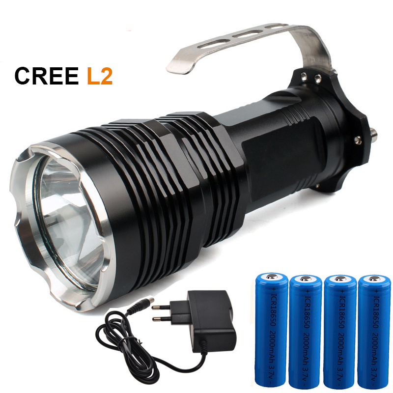 High quality portable LED flashlight CREE XM-L2 white / T6 yellow 3800 Lumens hunting tactical outdoor searchlight flashlight nitecore srt6 930 lumens cree xm l xm l2 t6 tactical led flashlight black free shipping