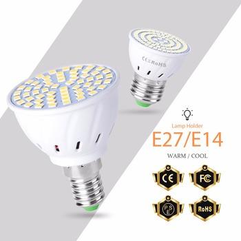 GU10 ledowa żarówka punktowa E27 220V lampa LED w kształcie kukurydzy E14 SMD 2835 48 60 80 diody Led GU5 3 Bombillas LED B22 skupić się 230V ampułka Led Maison tanie i dobre opinie SPSCL CN (pochodzenie) Zimny biały (5500-7000 k) Led Spotlight Garden AC220V-240V 500-999 Lumenów Globe 50000Hours 49-56mm