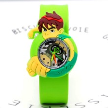 Cartoon ben 10 fashion Slap kids Watch Children Kids Girls B