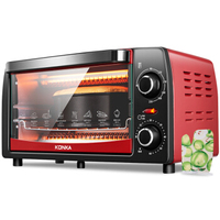 Convection Electric Oven Home Multi function 12L Mini Baking Oven Single Mechanical Timer Control Roaster Machine Kitchen Grills