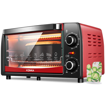 Convection Electric Oven Home Multi-function 12L Mini Baking Oven Single Mechanical Timer Control Roaster Machine Kitchen Grills