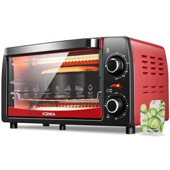 Four électrique à Convection maison multifonction 12L Mini four de cuisson simple minuterie mécanique contrôle rôtissoire Machine grilles de cuisine