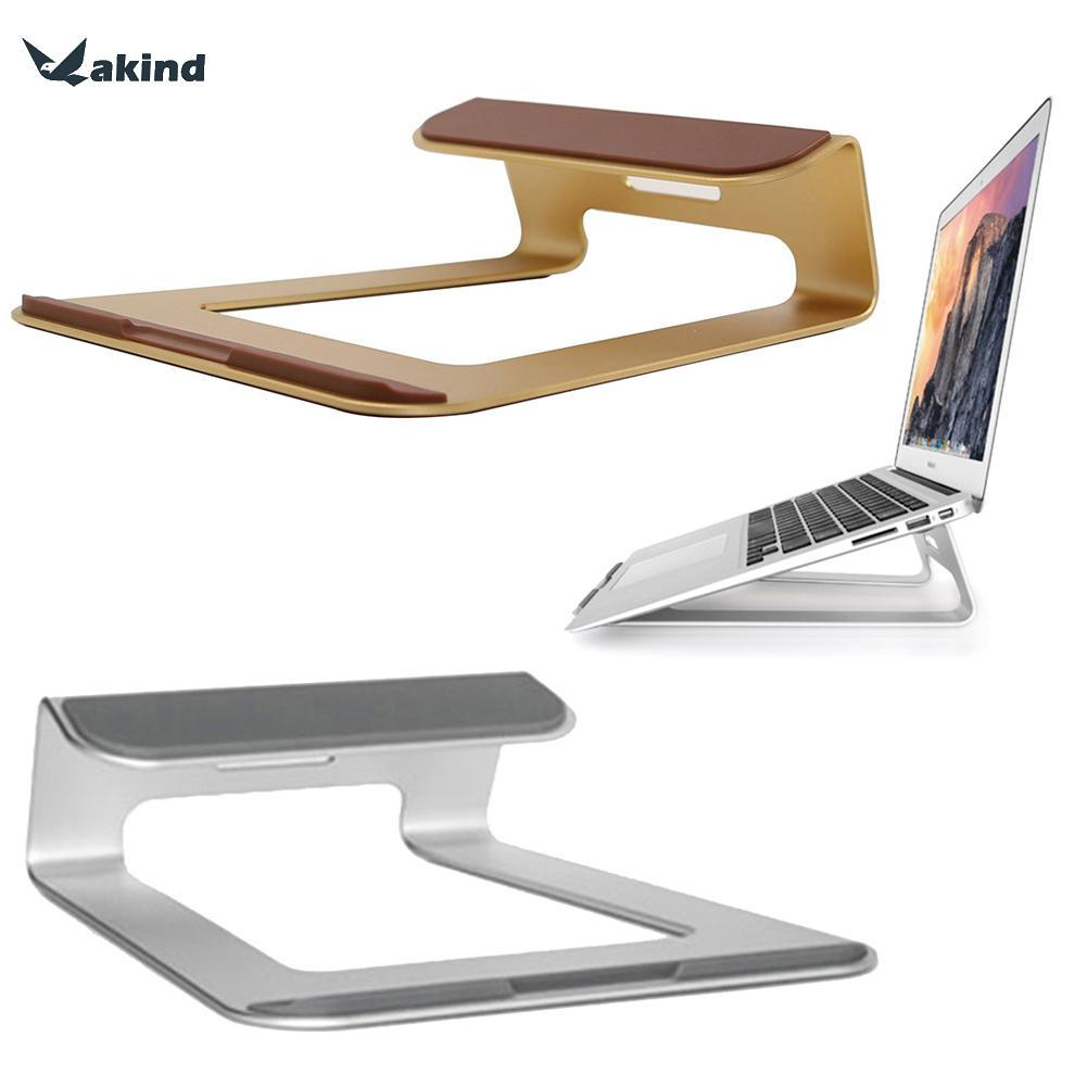 For MacBook(11-15 inch) For iPad Pro 12.9 Aluminum Alloy Desktop Laptop Holder Tablet Stand Newest One-piece Design Silver/Gold