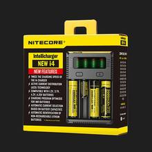 100% Original Nitecore i4 Intellicharger Universal Battery Charger I4 Intelligent charging Power For Li-ion/NiMH 18650/26650/AA(China)